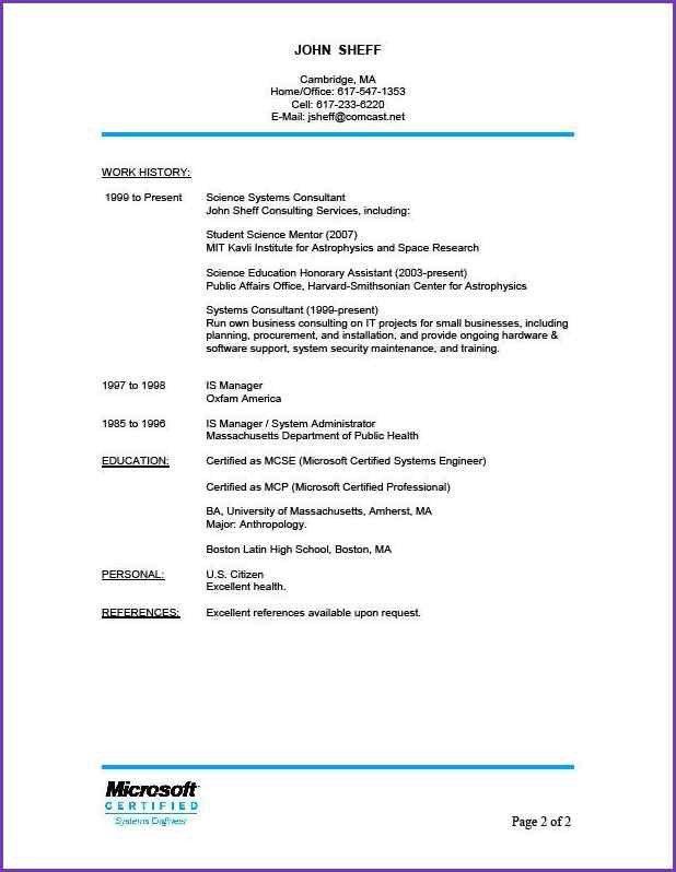 JOB REFERENCES FORMAT | Jobproposalideas.com
