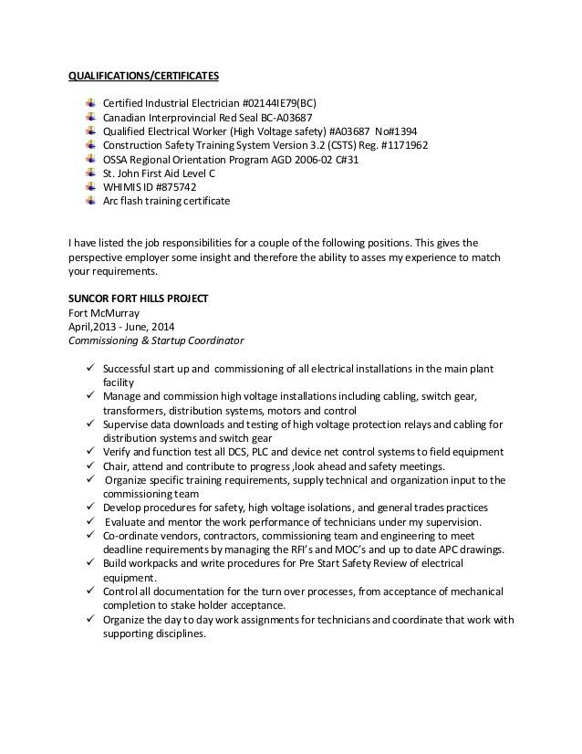 industrial electrician resume garry resume red seal industrial ...