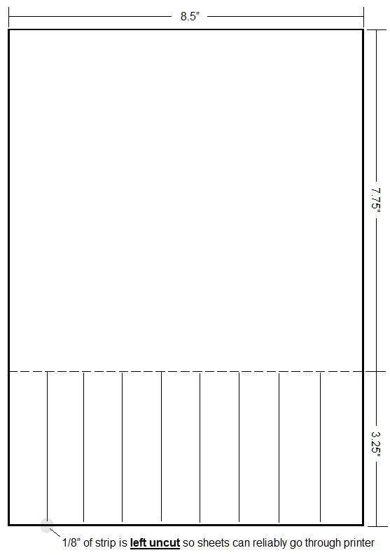 Perforated Paper | Custom Perforating | Perforated Card Stock