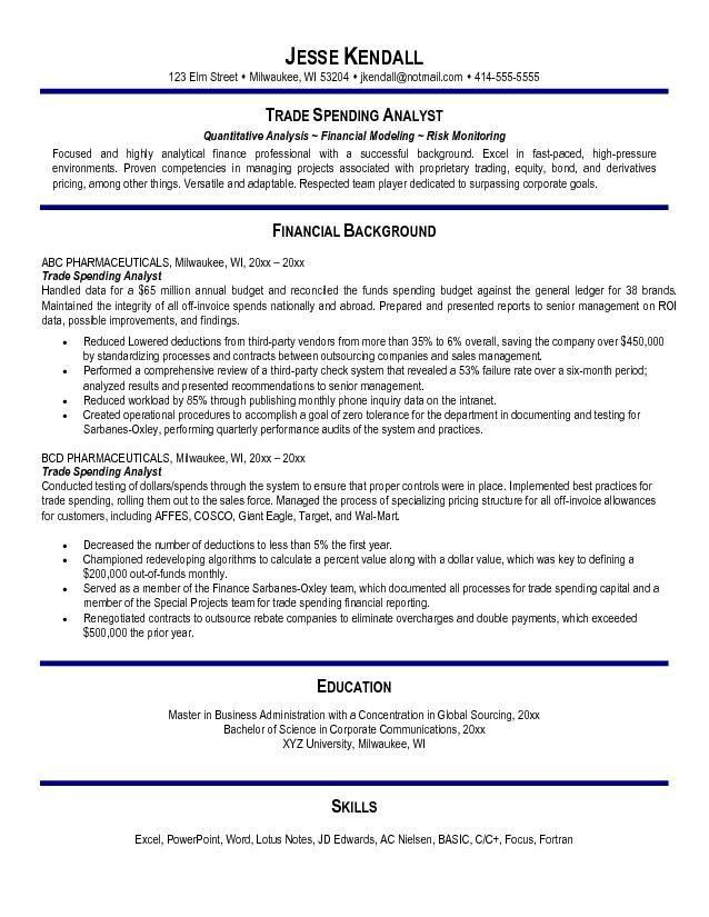 Equity Research Analyst Resume Sample] Sample Resume Quantitative