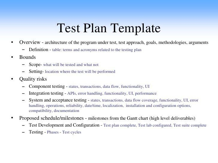 Qa Plan Example  BesikEightyCo