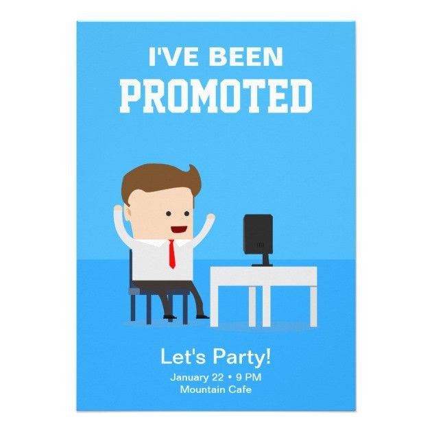 Job Promotion Announcement Party Invitation | Zazzle