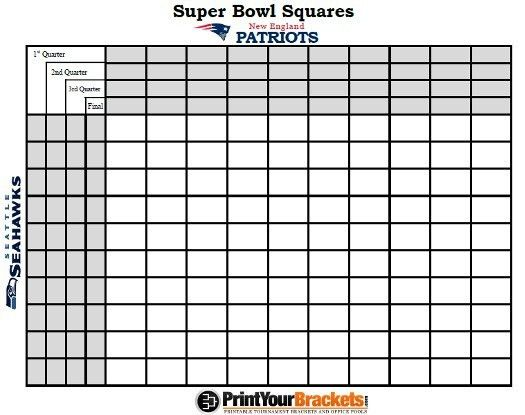 Super Bowl Boxes Template. super bowl squares rules super bowl ...