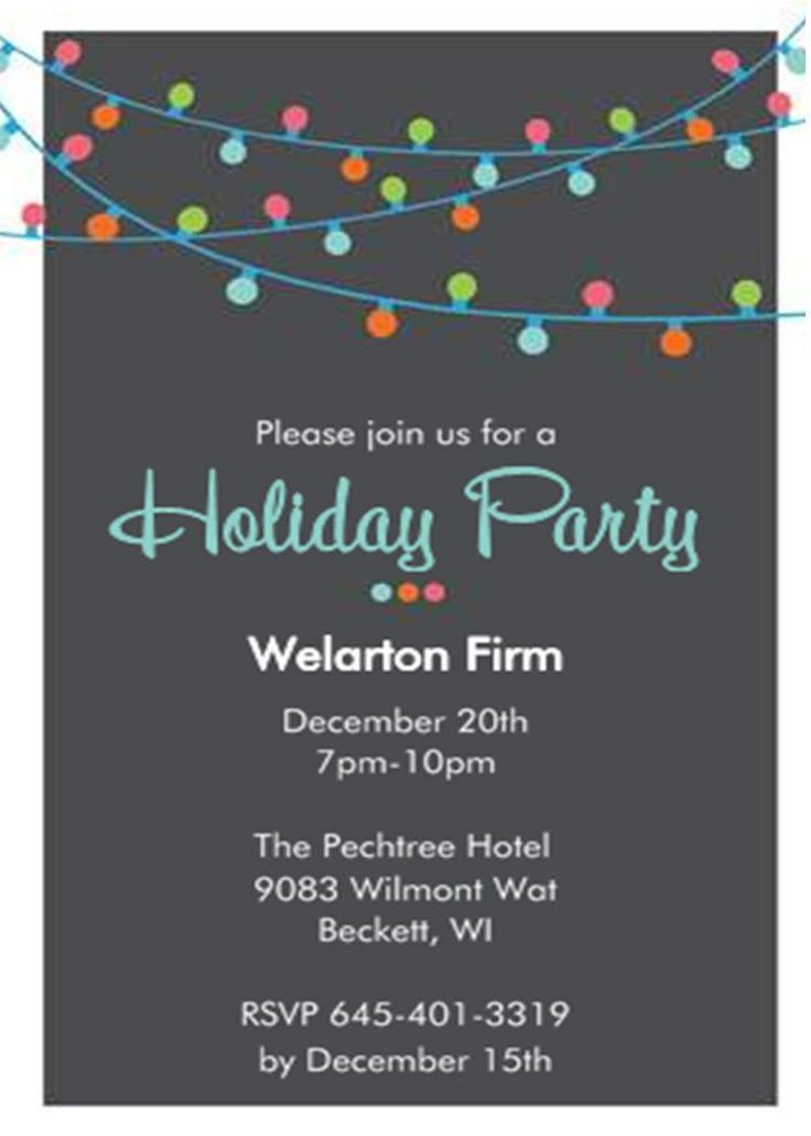 47 best invites images on Pinterest | Holiday party invitations ...