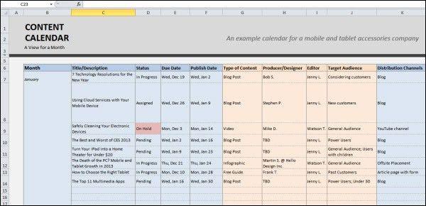 Top 10 Tips for Creating an Editorial Calendar