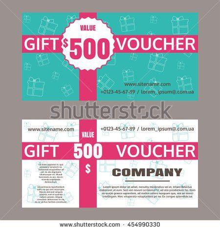 Vector Illustration Gift Voucher Template Gift Stock Vector ...