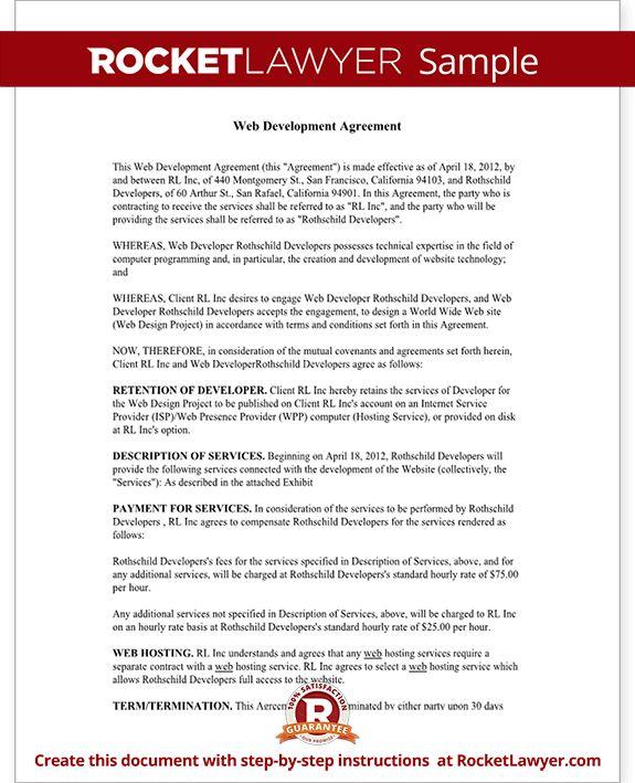 Freelance Contract Template - Website Design & Development