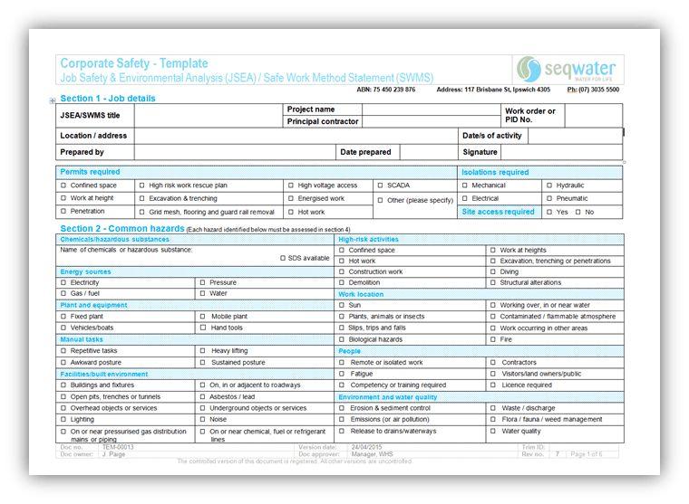 Contractor information | Seqwater
