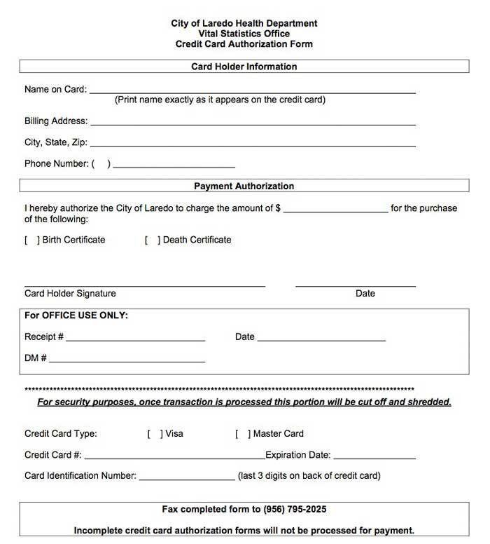 Ach Authorization Form Template | Template Design