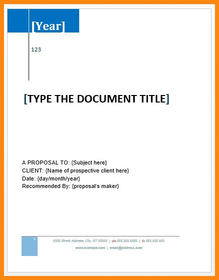 6+ project proposal template word | model resumed