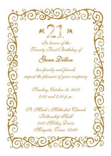 21St Birthday Invitations | afoodaffair.me