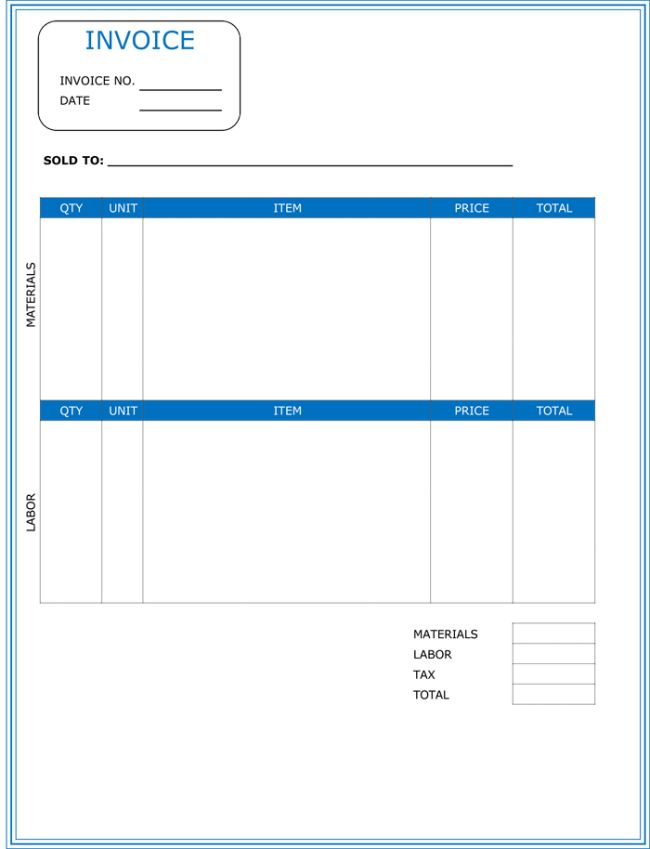 Download Labor Invoice Template Free | rabitah.net