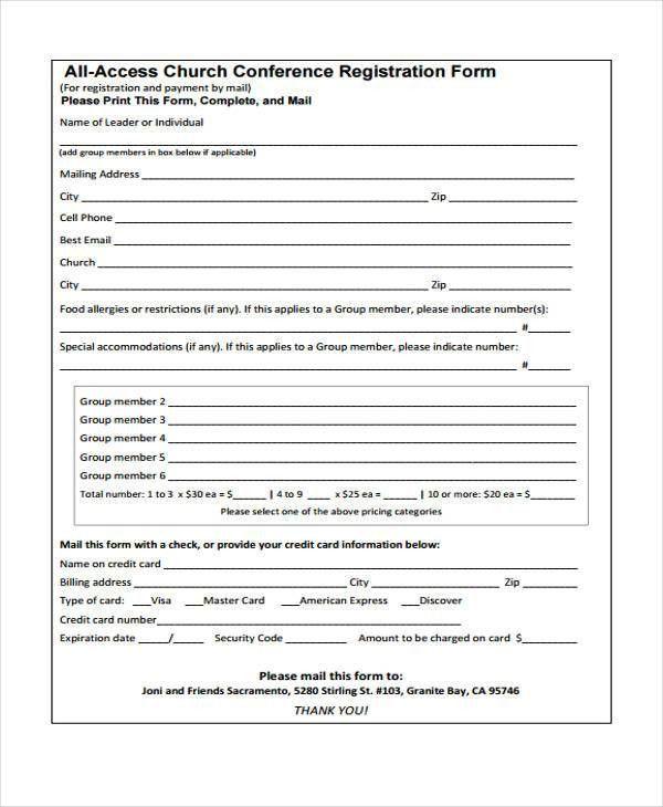 23 Conference Registration Form Templates