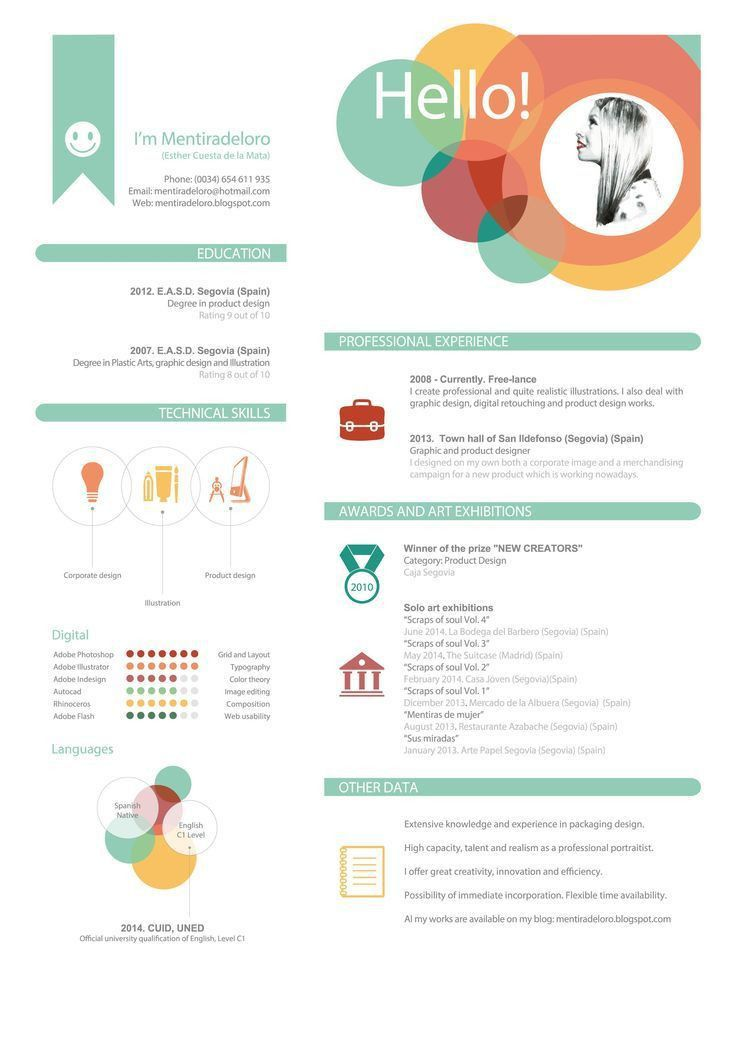 136 best Plantillas CV images on Pinterest | Cv design, Resume ...