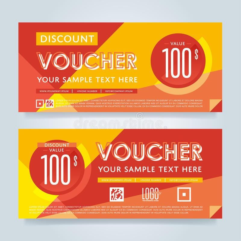 Gift Voucher Template, Vector Layout Stock Vector - Image: 69754310
