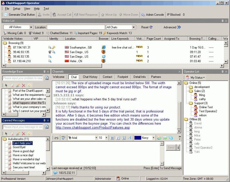 Online Customer Support Software for Website