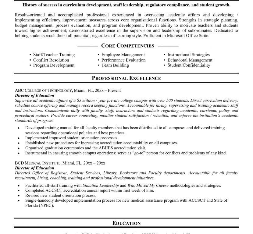 Higher Education Cover Letter - CV Resume Ideas