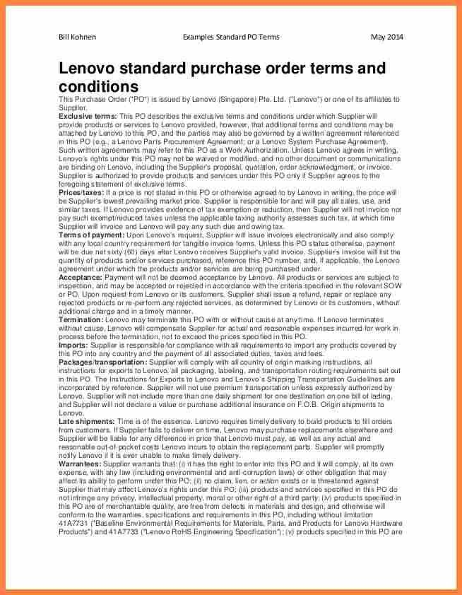 7+ purchase order terms and conditions template uk | Purchase ...