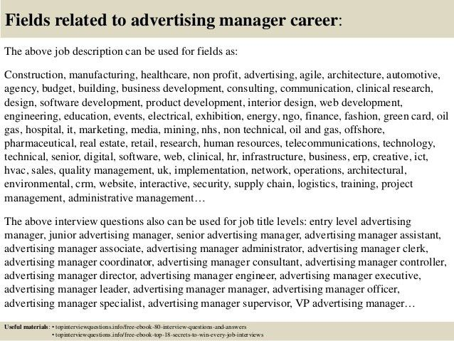 top 10 advertising manager interview questions and answers - It Manager Interview Questions And Answers