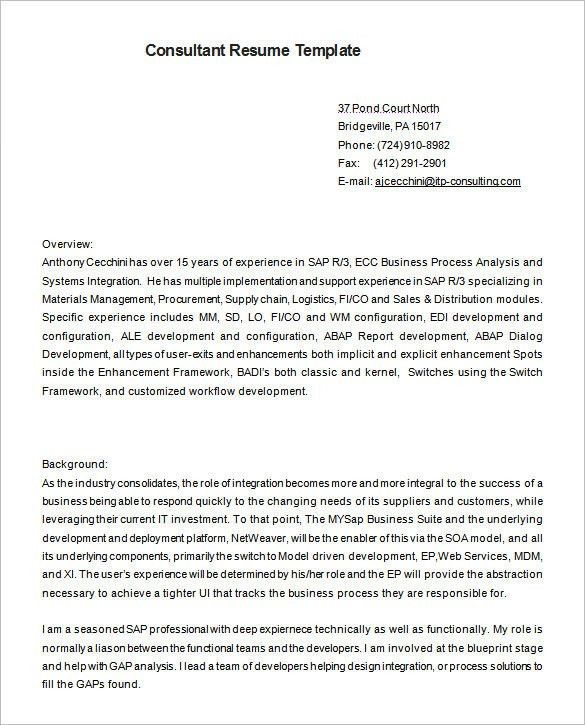 download business consultant resume sample haadyaooverbayresortcom
