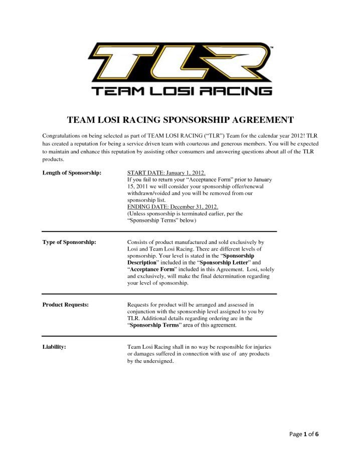 How To Write A Race Car Sponsorship Letter | Docoments Ojazlink