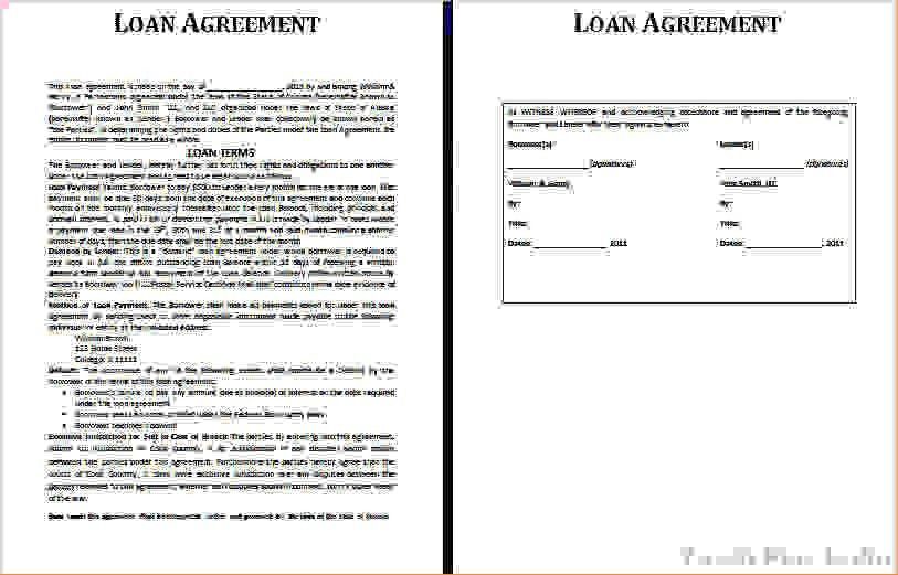 3 loan agreement templateReport Template Document | report template