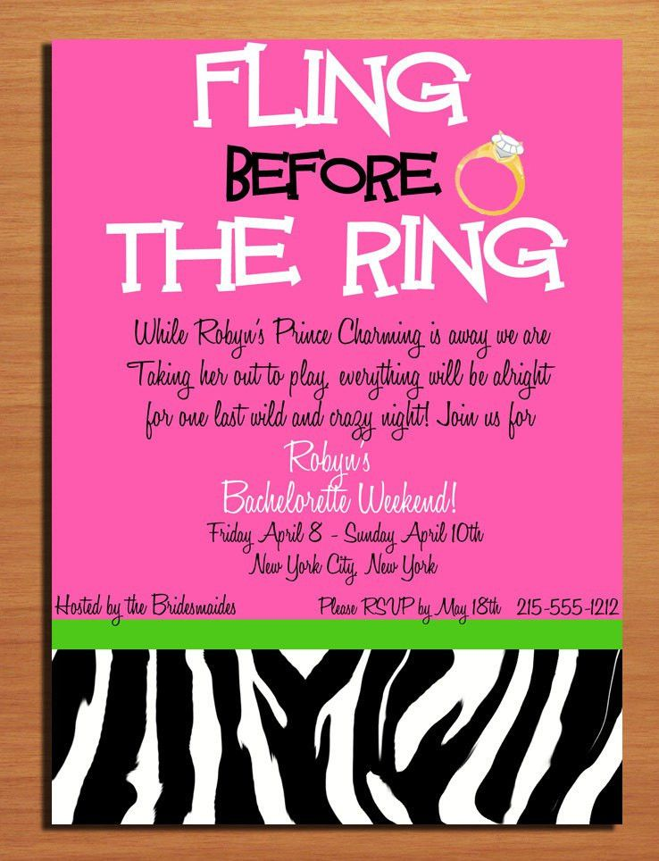 Party Invitations: Unique Bachelorette Party Invitation Templates ...