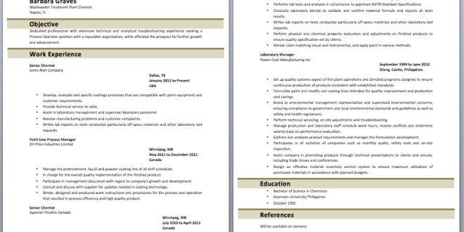 Plant Chemist Resume – Best Resume Examples