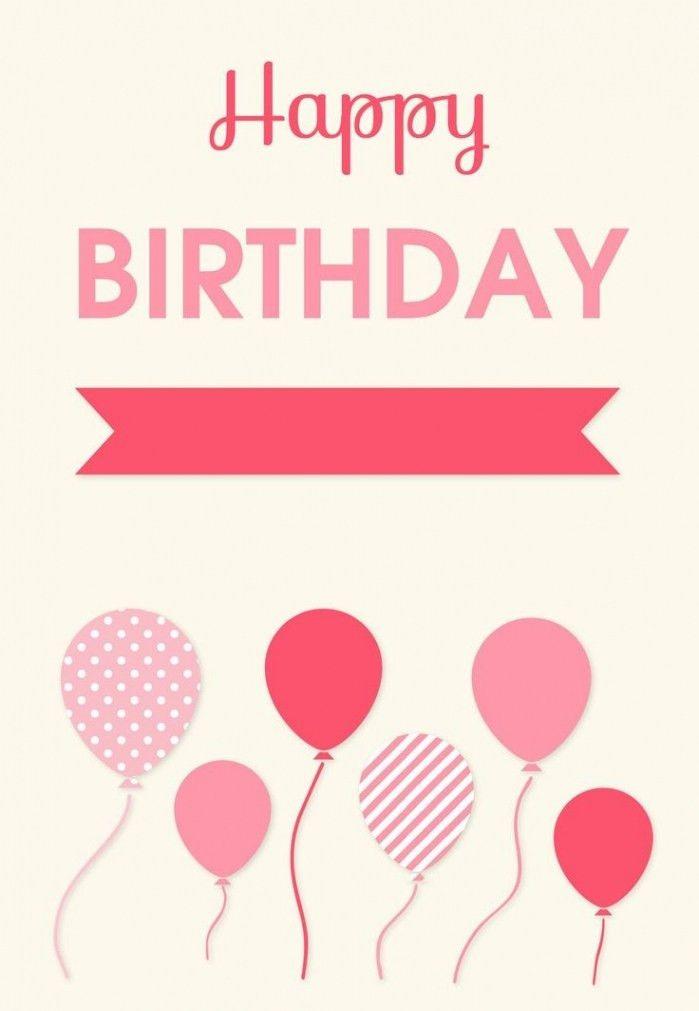 Minimalist Free Birthday Card Template To Print DA5F7 – Dayanayfreddy