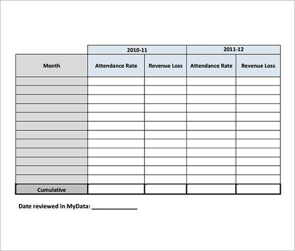 Attendance Tracking Template - 9+ Free Download for PDF