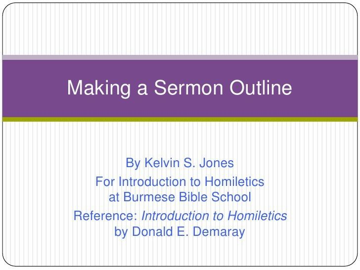 Making a sermon outline