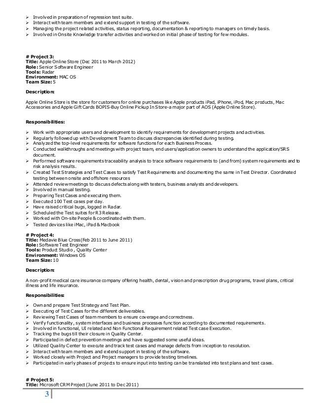Qa Team Lead Resume - Contegri.com