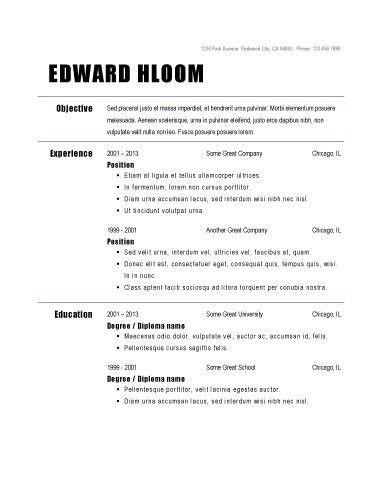 Basic Sample Resume Format. Basic Resume Format ...