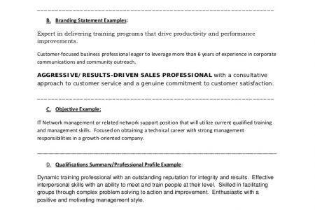 Resume Branding Statement Examples Stonevoicesco, Resume Branding ...