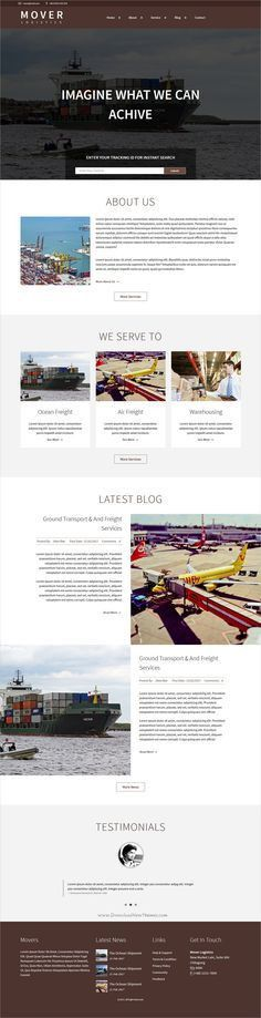 Mover Multipage HTML Shipping Template | Business website