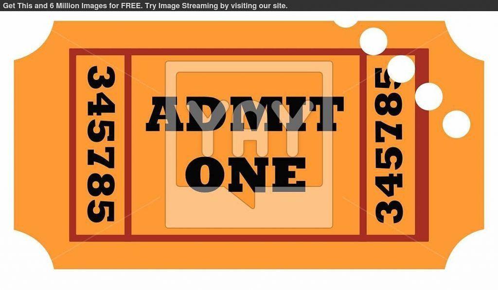 Admit One Template Ticket Movie Used Ticket : Masir