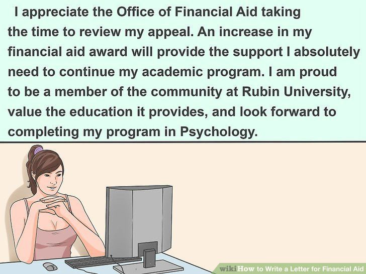 3 Ways to Write a Letter for Financial Aid - wikiHow