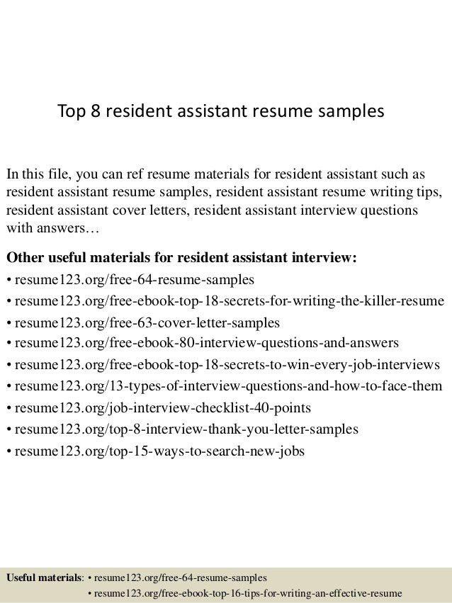 resident advisor cover letter professional resident assistant