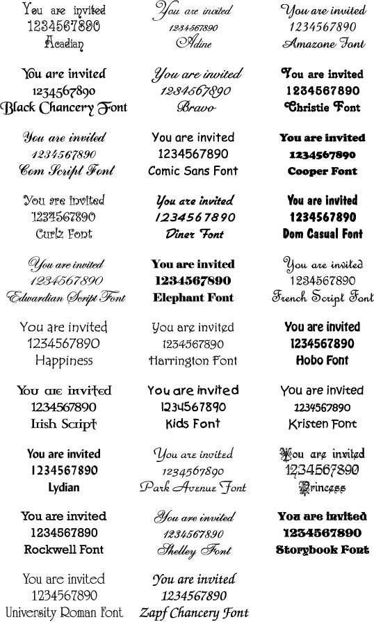 Wedding Invitations Fonts In Microsoft Word | futureclim.info