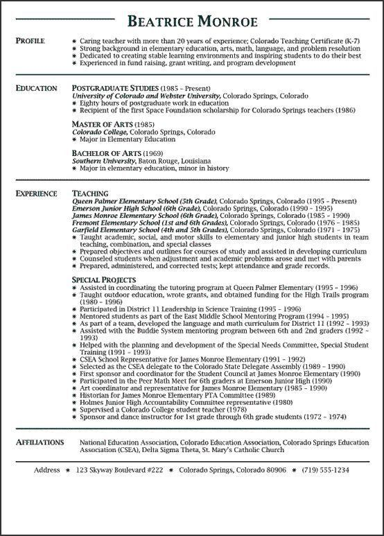english teachers resumes