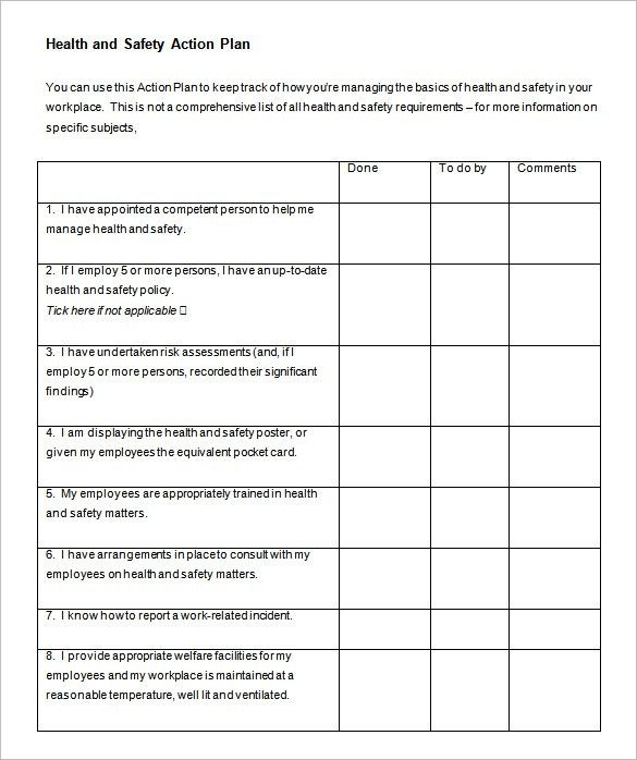 Project Action Plan Template. The Pdf Format Of The Project ...