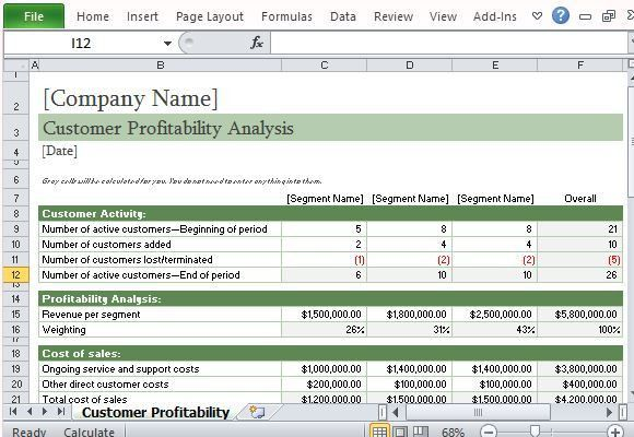 cost of sales template