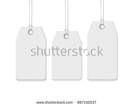 Blank Labels Template Price Tags Set Stock Vector 531389539 ...