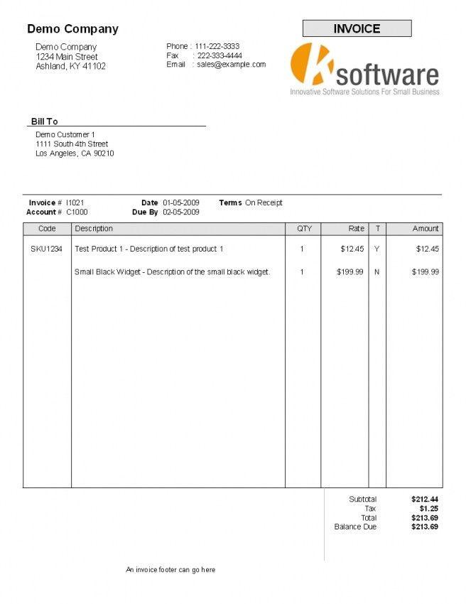 Standard Invoice Template | Design Invoice Template