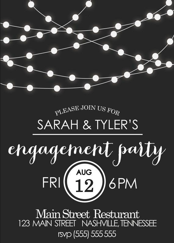 Engagement Party Invitation. Events By Vento Designs. We Go Beyond ...