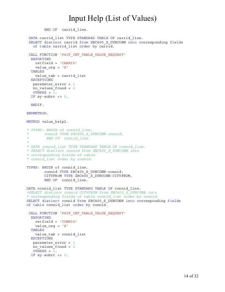 Step By Step Abap_input Help Or Lov