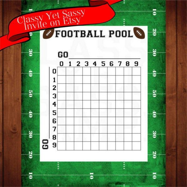 Football Squares Template Excel. football pool charts printable ...