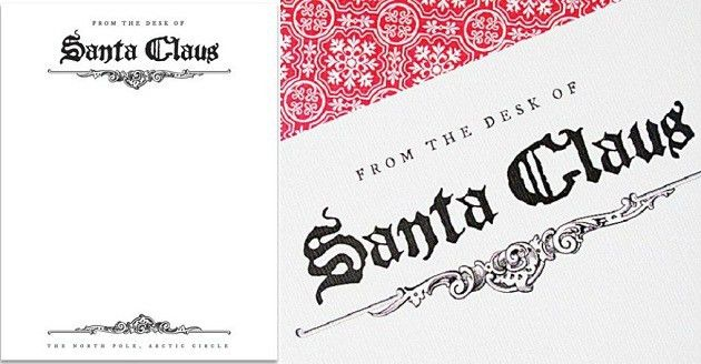 FREE Santa Claus Letterhead - Celebrations at Home