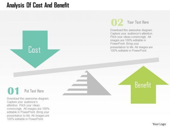 Business Diagram Analysis Of Cost And Benefit Presentation ...
