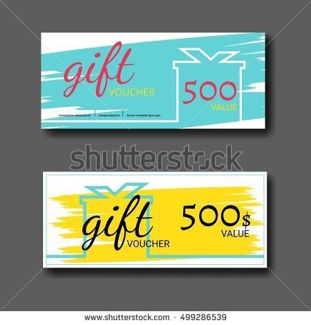 Gift Voucher Templatevoucher Gift Certificate Coupon Stock Vector ...